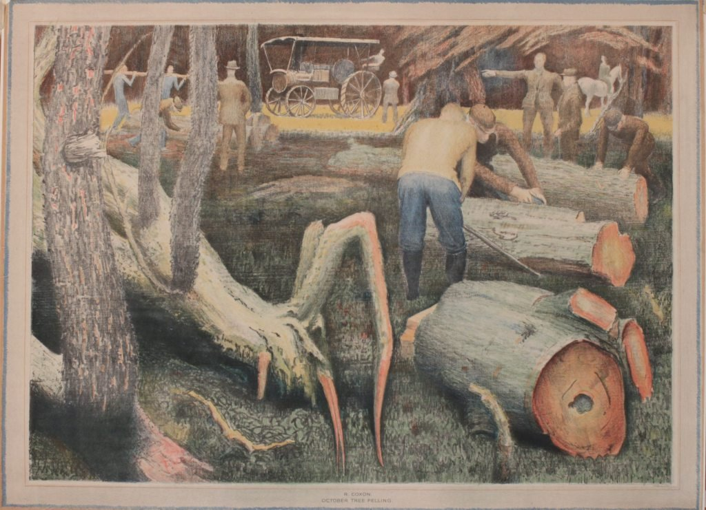 15: R Coxon (1896-1997) October Tree Felling, original