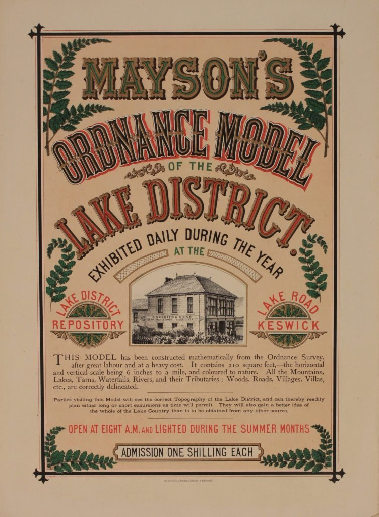 18: Mayson's Keswick, Ordance Model of the Lake Distric