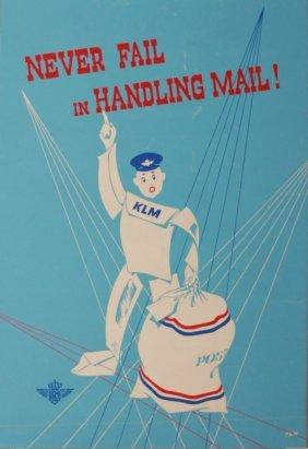 22: PSM (Dutch) KLM Never fails in Handling Mail !, ori