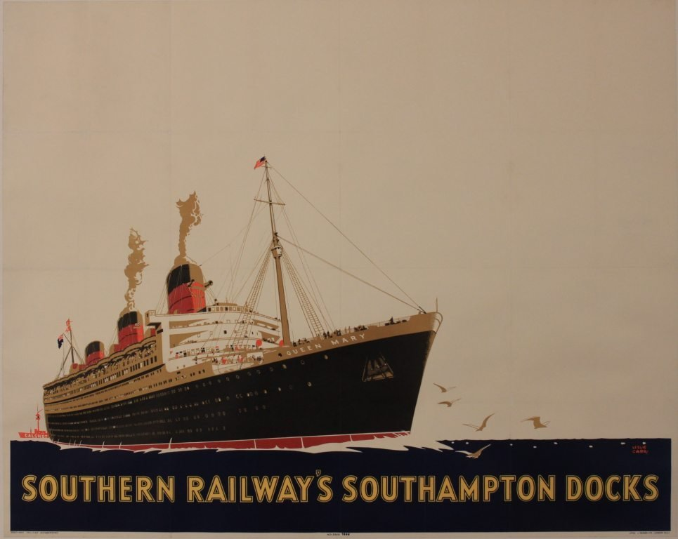 286: Leslie Carr (1891-1961) RMS Queen Mary, Southern R