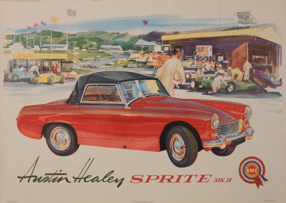 Johnston Austin Healey Sprite Mk II, original poster No