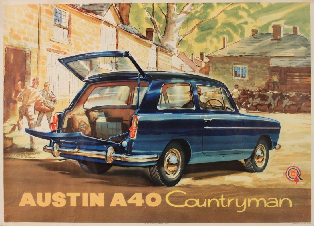 Johnston Austin A40 Countryman, original poster No 1888