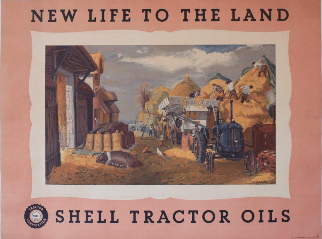 Joseph Webb (1908-1962) Threshing, New Life to the Land