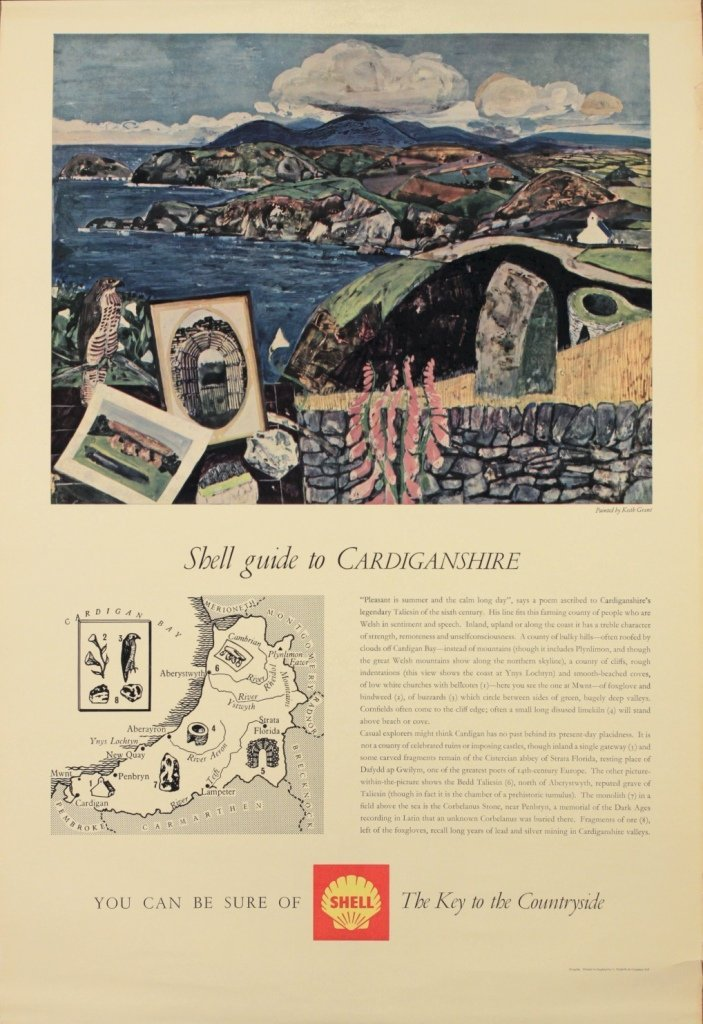Keith Grant (born 1930) Shell Guide to Cardiganshire, o