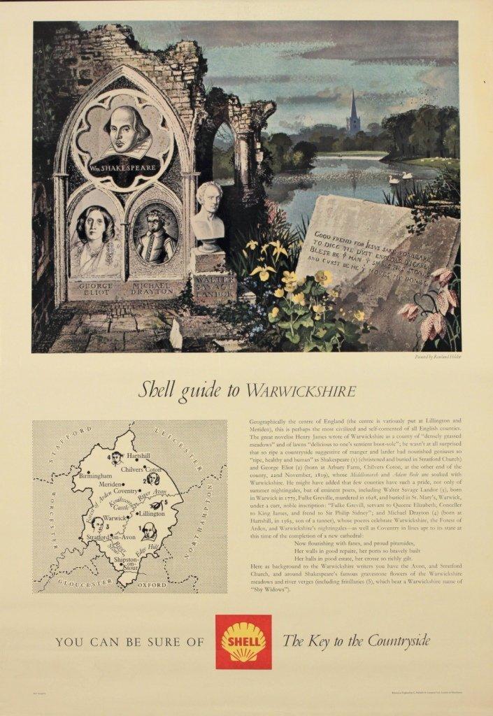 Rowland Hilder (1905-1983) Shell Guide to Warwickshire,