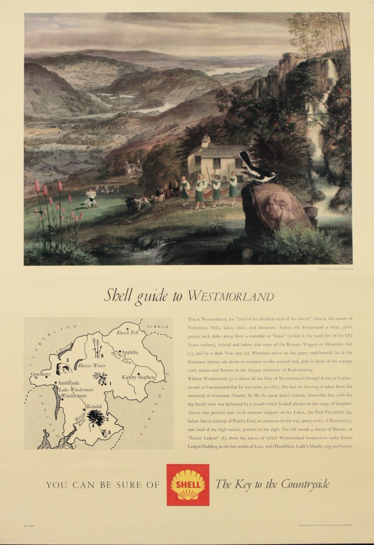 Claud Harrison (1922-2009) Shell Guide to Westmorland,