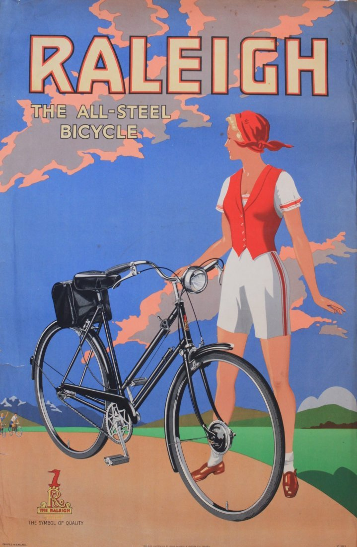 Anon Raleigh The All-Steel Bicycle, original poster No