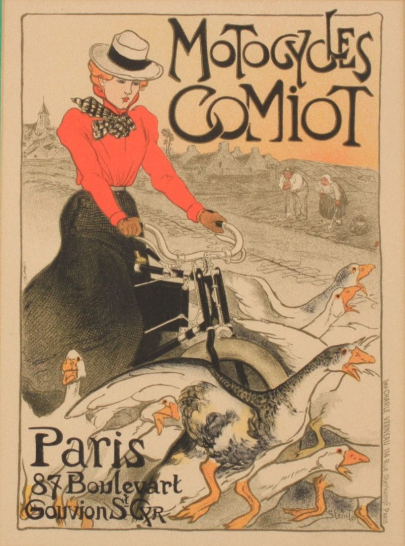 Steinlen (Theophile-Alexandre 1859-1923) Motorcycles Co
