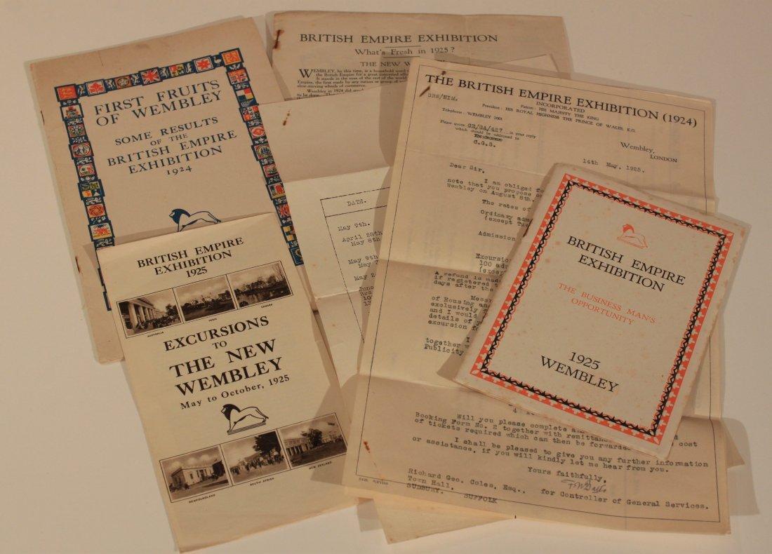 British Empire Exhibition 1925, a group of ephemera