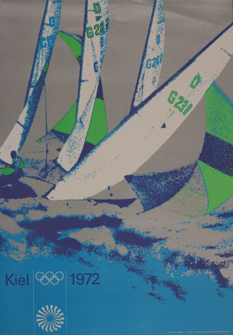 Olympics Munchen 1972, Sailing, photographic poster by
