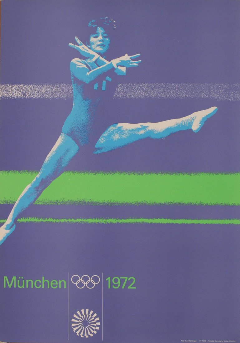 Olympics Munchen 1972, Gymnast, photographic poster by