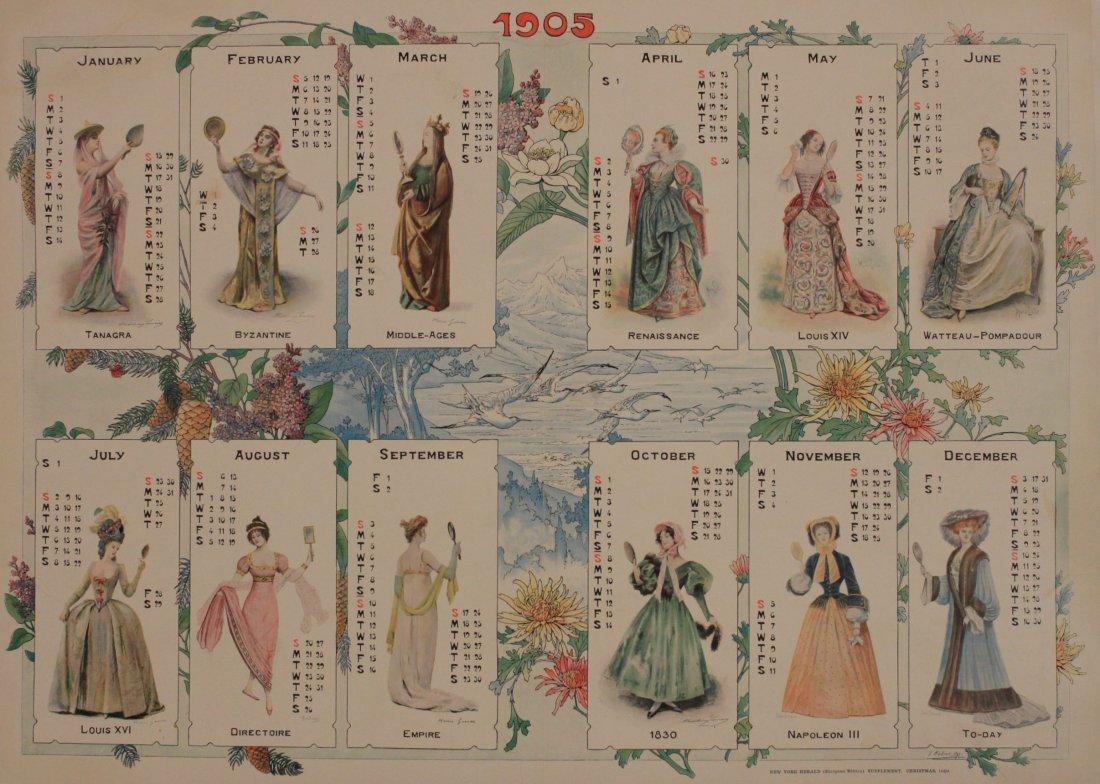 New York Herald Christmas Supplement Calendar for 1905