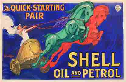 Jean D'Ylen (1886-1938) Shell Oil and Petrol, The Quick