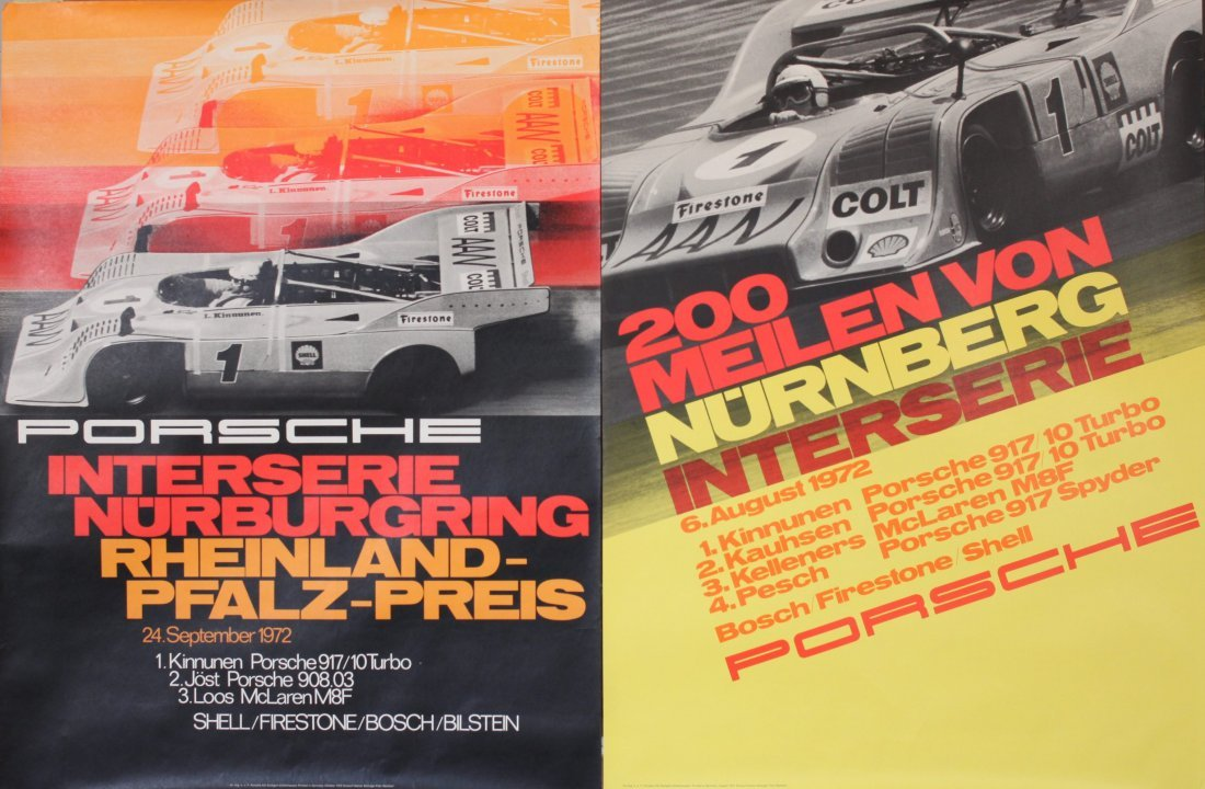 Porsche Factory Posters 1970-1987