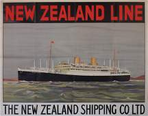 Anon New Zealand Line RMS Rangitata, printed for The