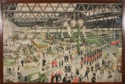 Helen McKie (1889-1957) Waterloo Station 1848 1948 A