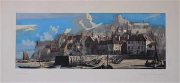 �Rowland Hilder (1905-1993) Whitby Yorkshire, original