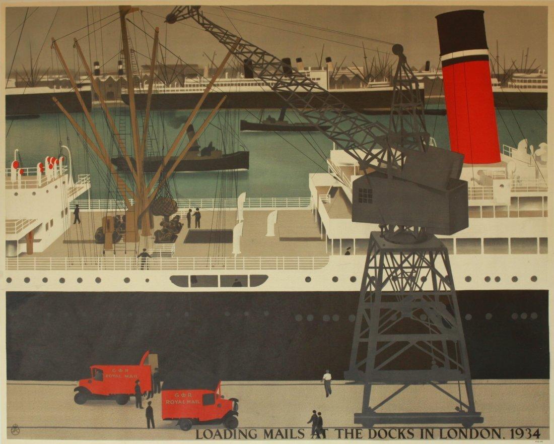 H S Williamson (Harold Sandys 1892-1978) Loading Mails
