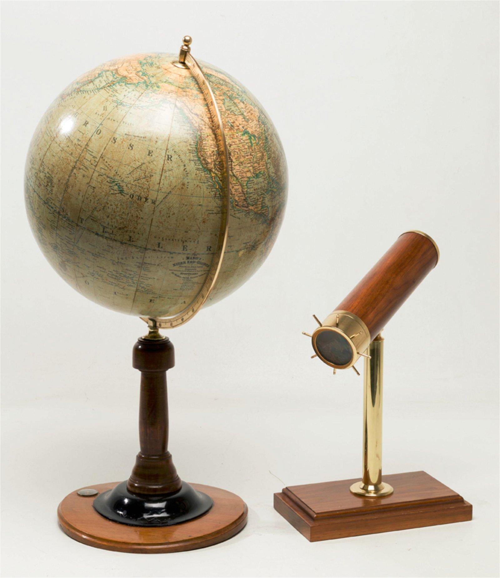 Globe of the German house, Mang's Neuer Erd Globus c.