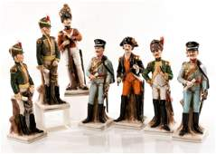 7 Porcelain figures military