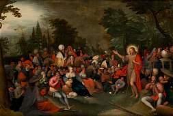"FLEMISH SCHOOL ""The preaching of St. John the Baptist"""