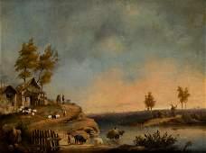 """ITALIAN SCHOOL """"Landscape"""""""