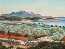 JOS MARA TOGORES 1893  1970 Landscape of Gerona