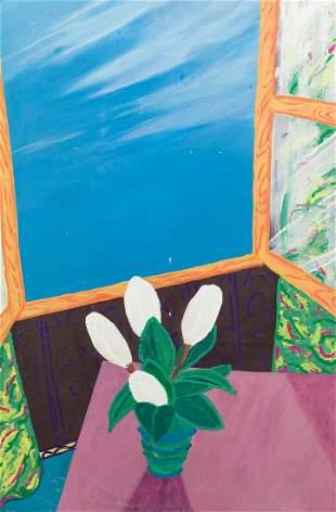 """XABIER OLIVER S.XX / . """"El ramo de magnolias"""", 1982"""