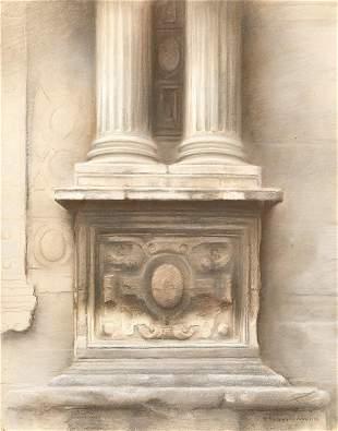 "FERNANDO RODRIGO 1944 / 2014 ""Columns with base"", 1982"