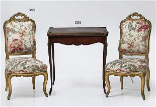 Pair of Louis XV-style chairs
