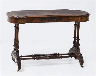 English table with 19th century model