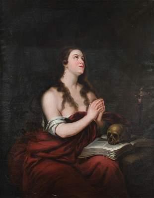 """JUAN ANTONIO VERA Y CALVO 1825 / 1905 """"Magdalene"""""""