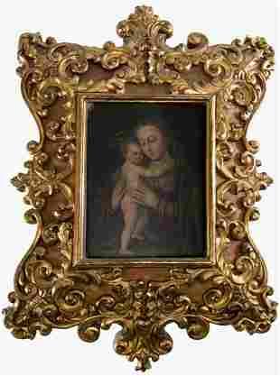 """ANONYMOUS S.XVI / S.XVII """"Virgin With Child"""""""