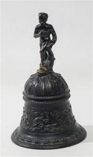 Bronze hand bell, Italy 17th century