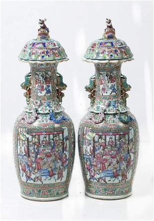 Porcelain Tibor Canton with flaws