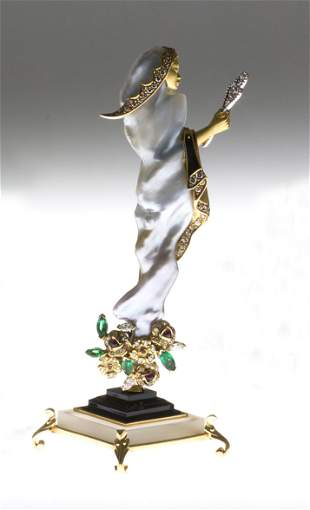 SCULPTURE JEWEL THE MAGIC OF THE WIND CASE BASE