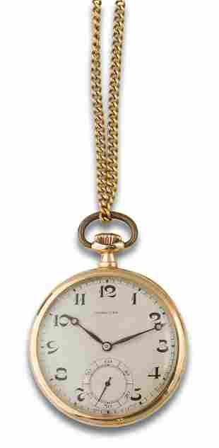 Longines pocket watch with fob