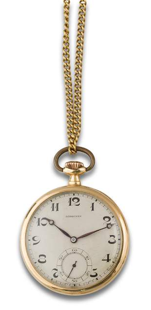 Longines pocket watch with fob