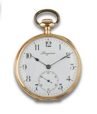 Longines pocket watch in yellow gold