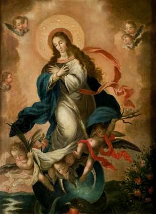 "ANONYMOUS (17th CENTURY / 18Tth CENTURY) ""Inmaculada"""