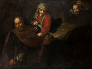 "SPANISH SCHOOL (17th CENTURY) ""The Flight to Egypt"""