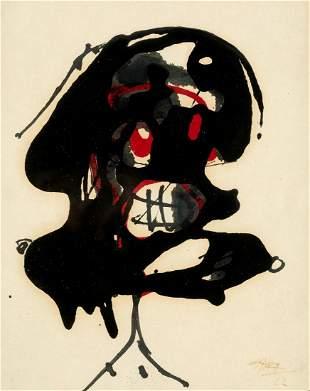 """ANTONIO SAURA (1930 / 1998) """"Composition"""", 1962"""