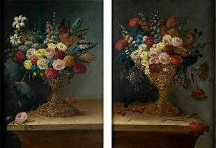 "JOSE MARIA CORCHON (19th CENTURY ) ""Couple of flower"