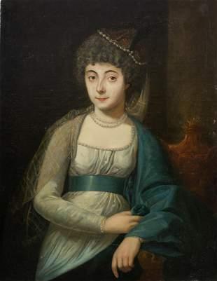 "FRENCH SCHOOL (19th CENTURY) ""Portrait of a lady""."