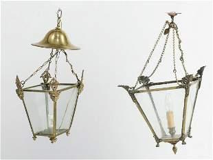 Pair of ceiling lanterns