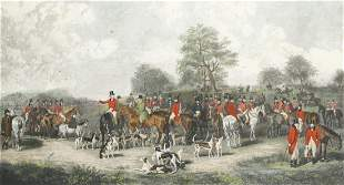 """CHARLES GEORGE LEWIS (1808 / 1880) """"The Chesire Hunt"""""""