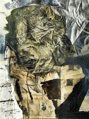 """ANTONI CLAVÉ (1913 / 2005) """"En papier froisse"""", 1978"""