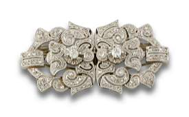Old gold and old cut diamonds brooch, 8/8 ro