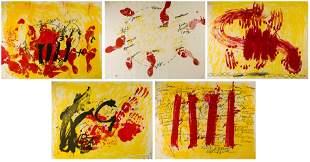 """ANTONI TÀPIES (1923 / 2012) """"Catalan suite"""", 1972"""