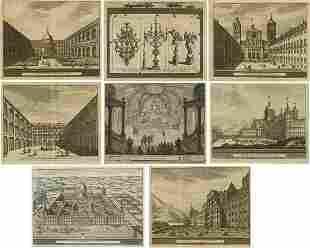 """PIETER VAN DER AA (1659 / 1733) """"Views of El Escorial"""